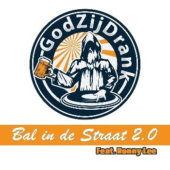 Dj-duo GodZijDrank zet de aanval in op de hitlijsten - Logo GodZijDrank Bal in de straat 2.0