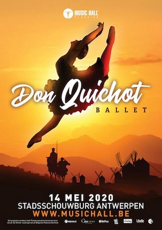 balletvoorstelling 'Don Quichot' op 14 mei 2020 in Stadsschouwburg Antwerpen - Affiche Don Quichot