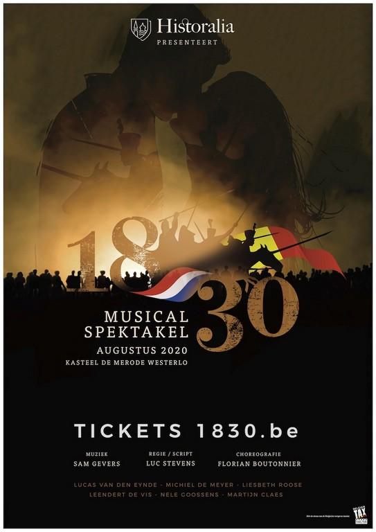 Musicalspektakel 1830 kijk op ontstaan Koninkrijk België - Affiche Musical 1830