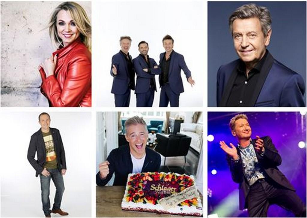 Schlagerfestival vereeuwigt De Romeo's, Christoff, W. Sommers, Y. Segers, Laura L. en Bart K. - Artiesten 15 jaar Schlagerfestival