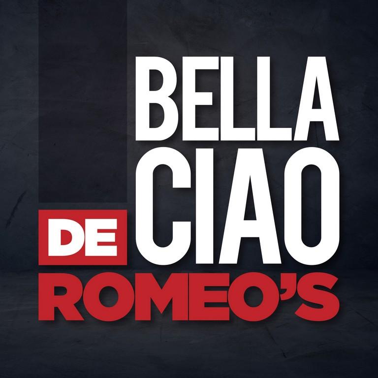 De Romeo's nieuwe single 'Belle Ciao'. - Hoes De Romeos Bella Ciao