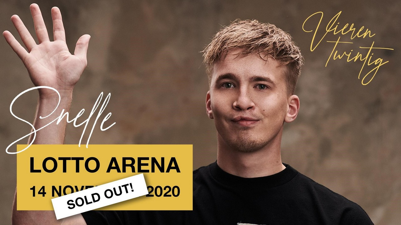 Snelle verkoopt Lotto Arena-concert 'Vierentwintig' op 24 uur uit. - Snelle Lotto Arena Sold Out 1