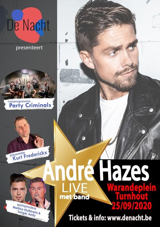 'De Nacht met André Hazes' verhuist naar vrijdag 25 september 2020 - Affiche André Hazes Turnhout uitgesteld