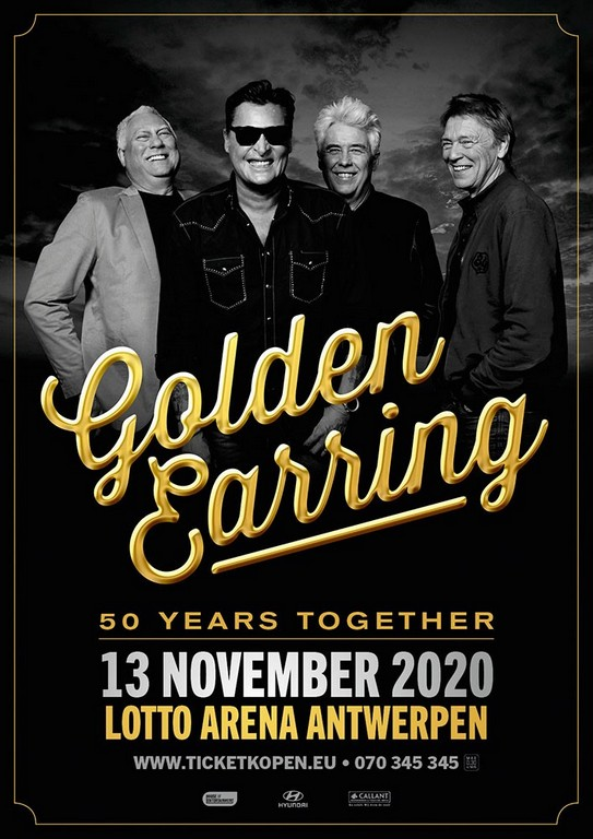 Golden Earring viert '50 Years Together' in de Lotto Arena - Affiche Golden Earring