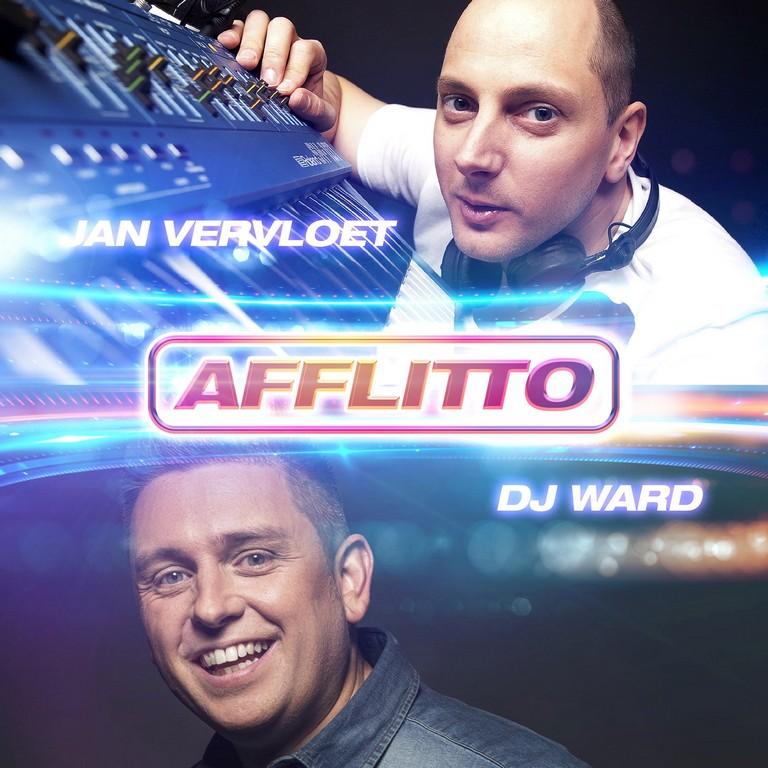 DJ Ward en DJ Jan Vervloet nieuwe versie Fiocco's 'Afflitto'. - Hoes DJ Jan Vervloed en DJ Ward Afflitto