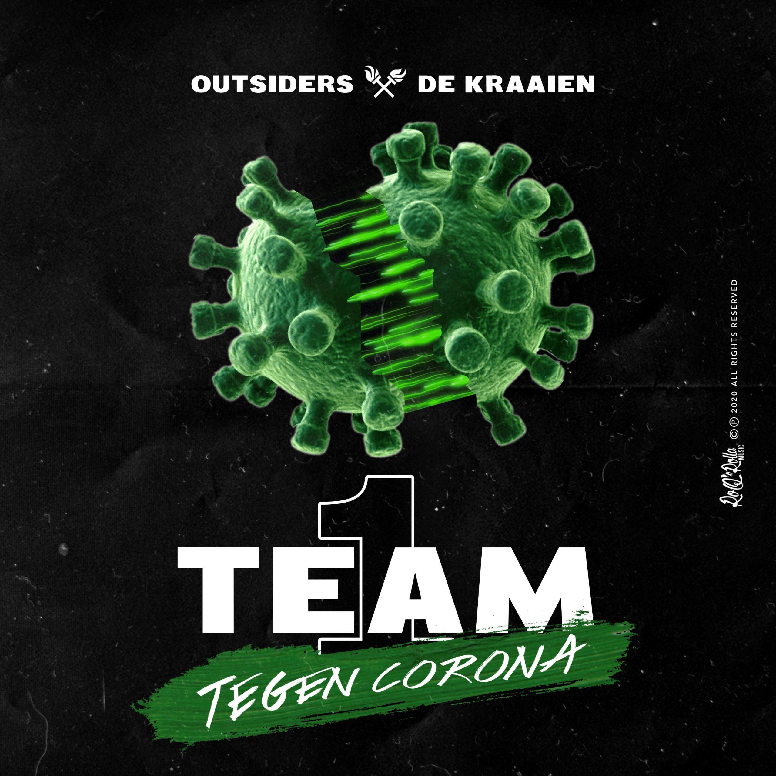Met '1 Team, 1 Taak' verenigen Outsiders en De Kraaien de Lage Landen - Hoes Outsiders De Kraaien 1 Team Tegen Corona scaled