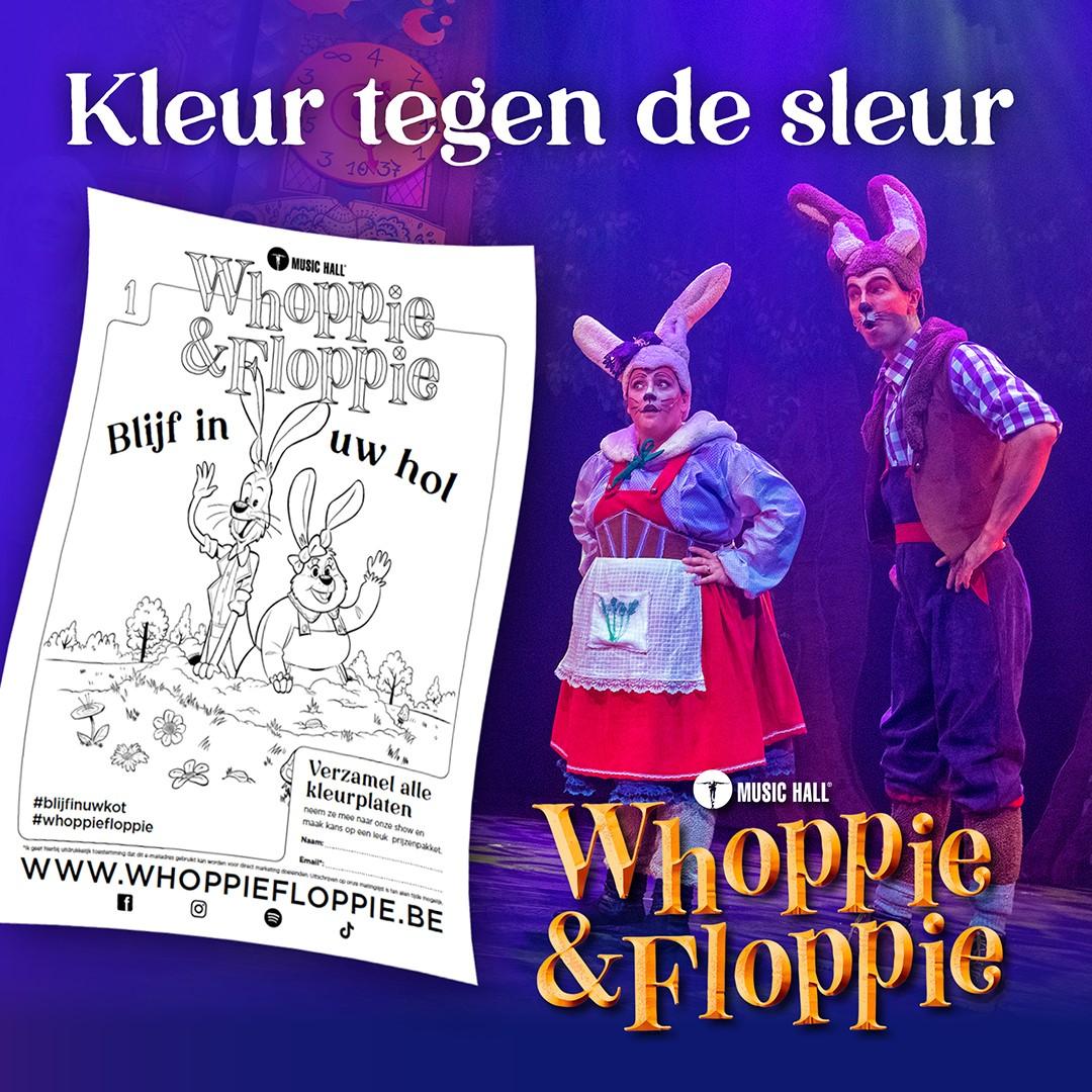 Whoppie en Floppie lanceren eigen kleurplaten én website! - Whoppie en Floppie 1