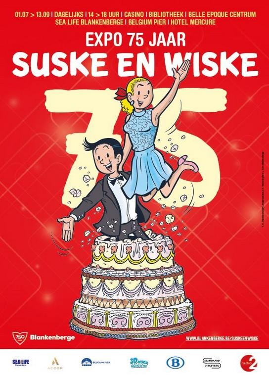 Suske en Wiske 75 jaar, feest in Blankenberge - Aankondiging Suske en Wiske expo 75j Blankenberge