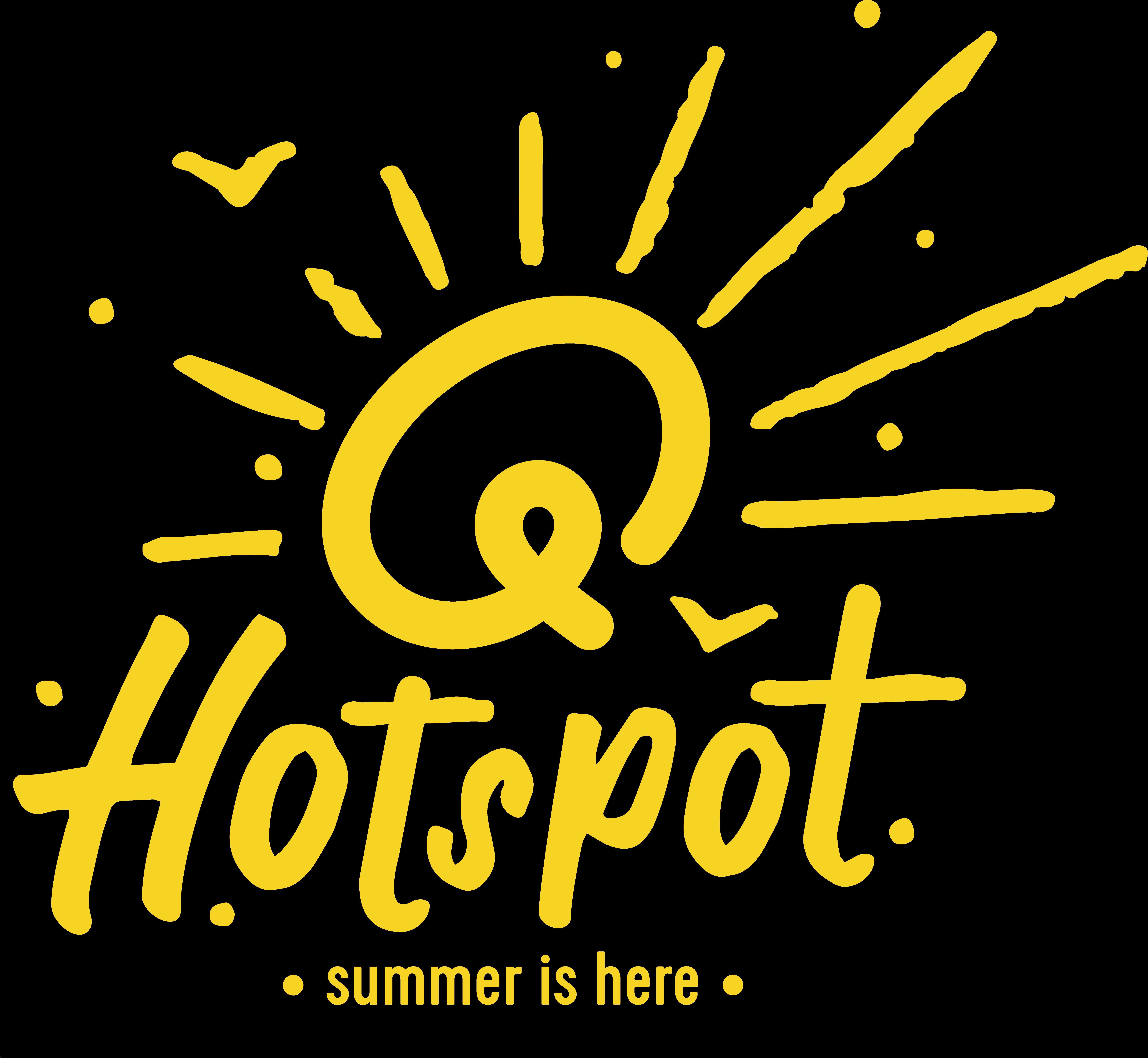 Qmusic verhuist van strand naar park - Logo Q hotspot