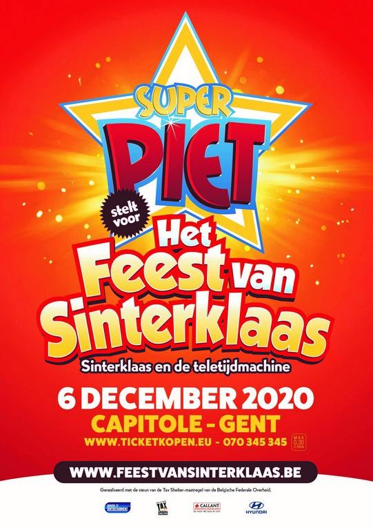 Capitole Gent viert op 6 december 'Het Feest van Sinterklaas'. - Affiche het feest van Sinterklaas