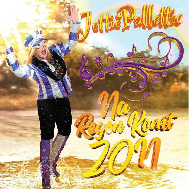 Jettie Pallettie krabbelt recht na een burn-out met 'Na regen komt zon' - Hoes Jettie Pallettie Na Regen komt De Zon
