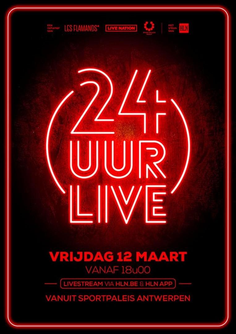 24 uur live muziek vanuit het Sportpaleis - Affiche 24 uur live