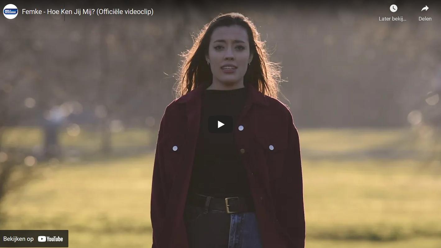 Femke Verschueren werkte voor de videoclip samen met een 16-jarige student