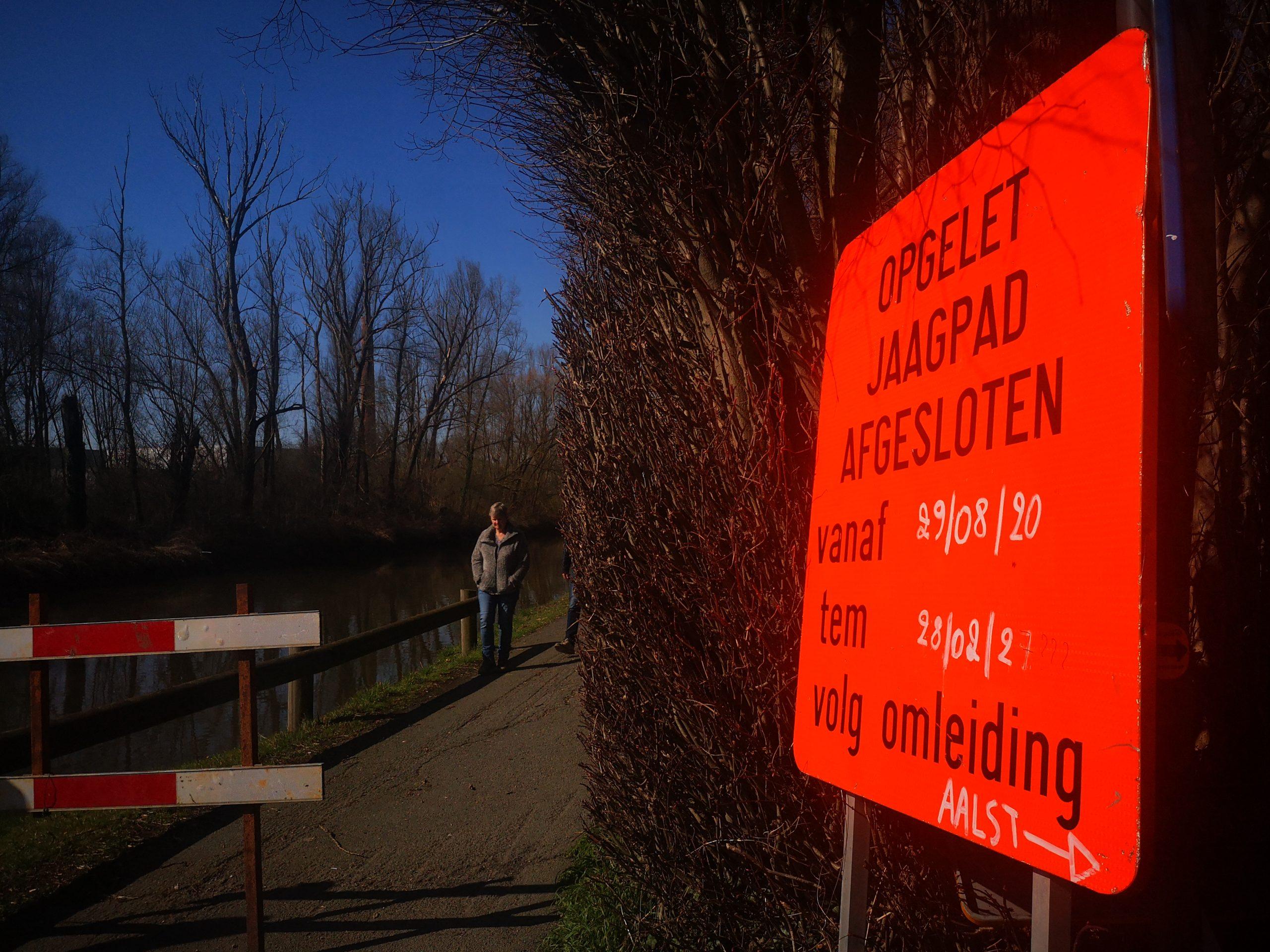 Fietsersbond Aalst wil jaagpad aan Dender sneller terug open