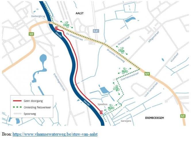Fietsersbond Aalst - jaagpad - vlaamse waterweg