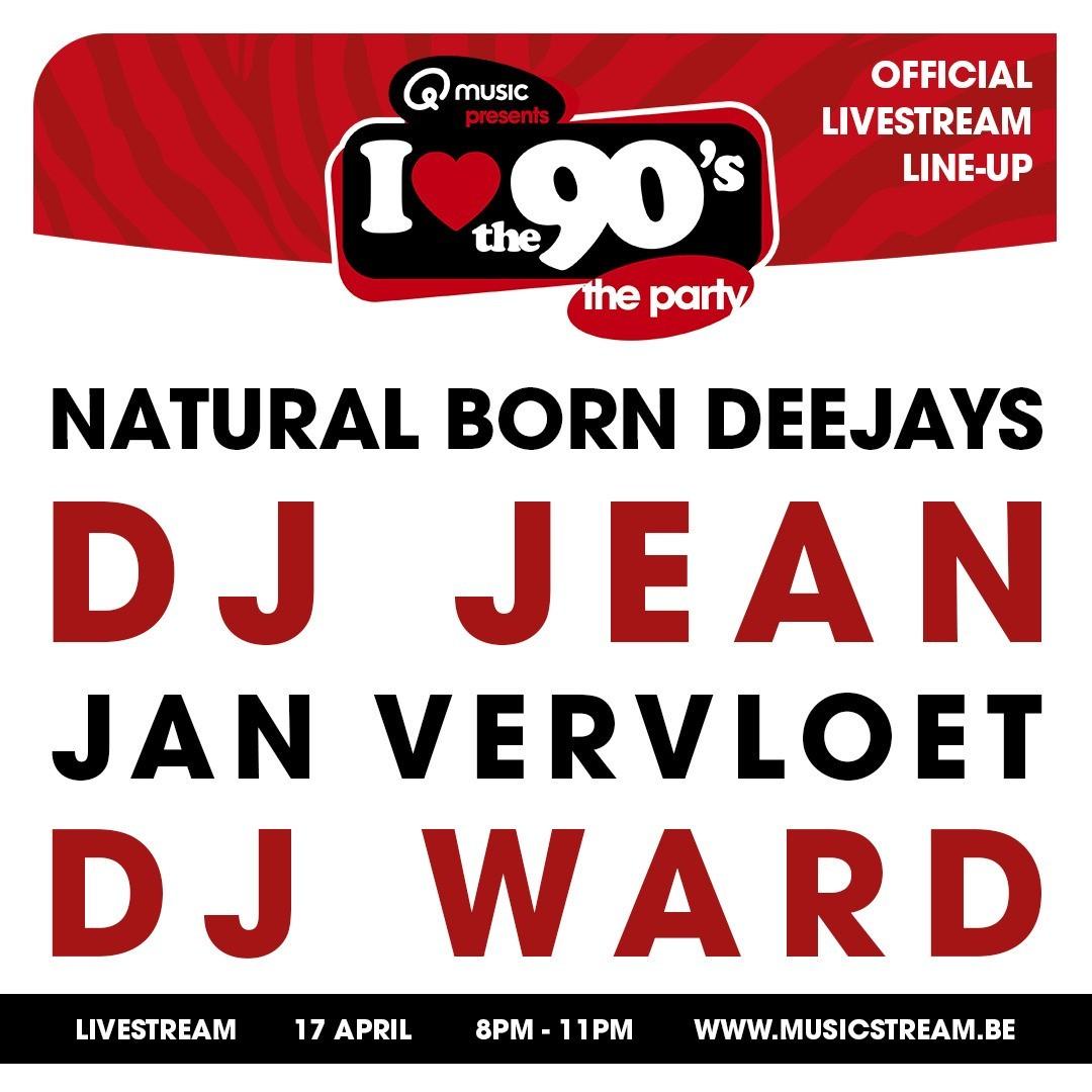 'I love the 90's'-livestream morgen met toffe prijzen - Affiche i love the 90s 2021