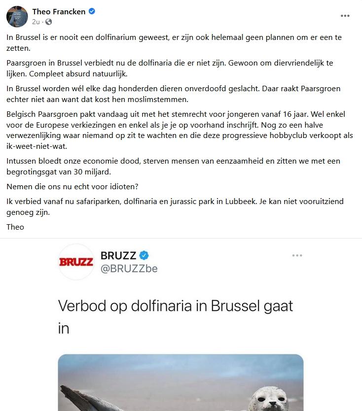 Theo Francken verbiedt safaripark in Lubbeek