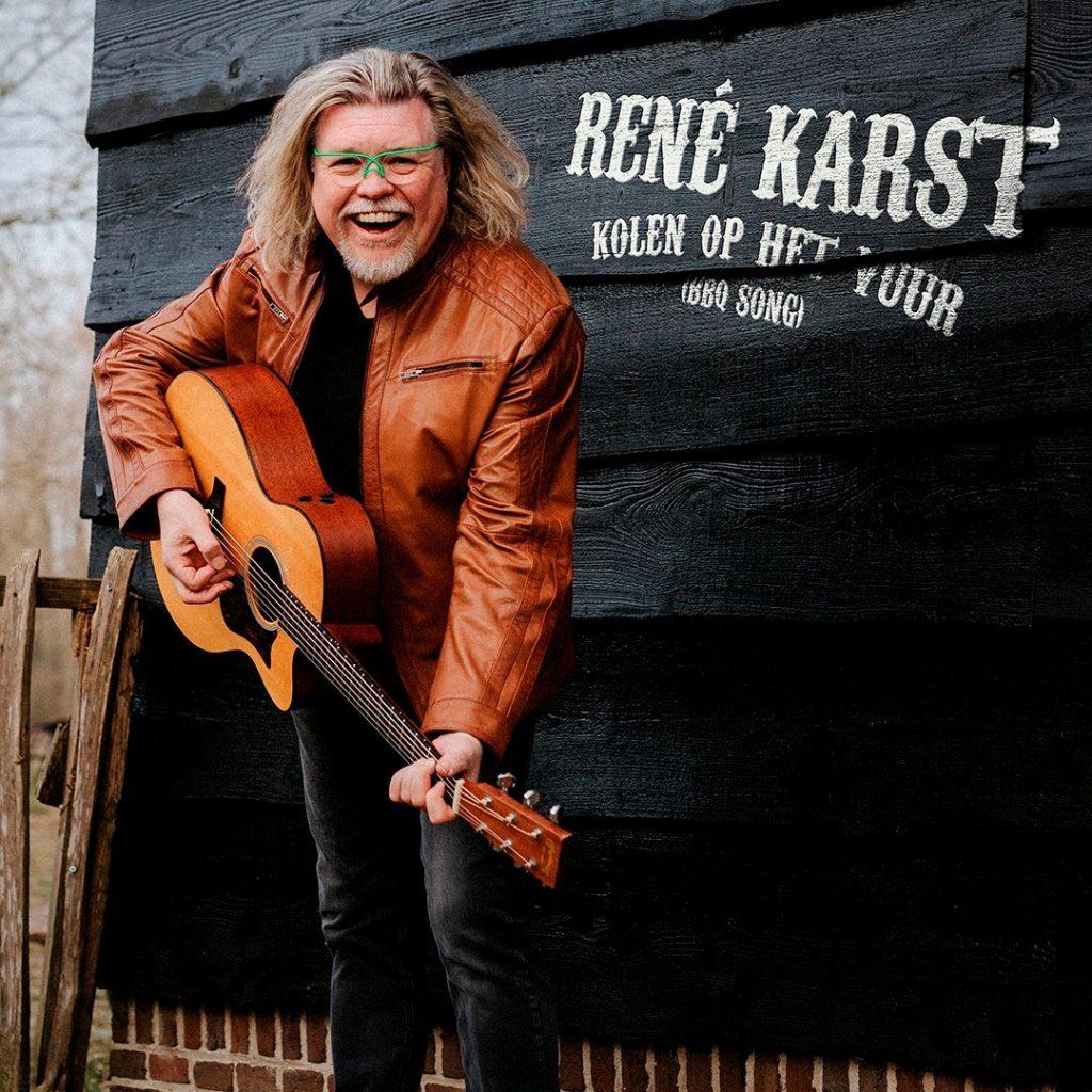 René Karst opent met 'Kolen op het vuur' - Hoes Rene Karts Kolen Op Het Vuur