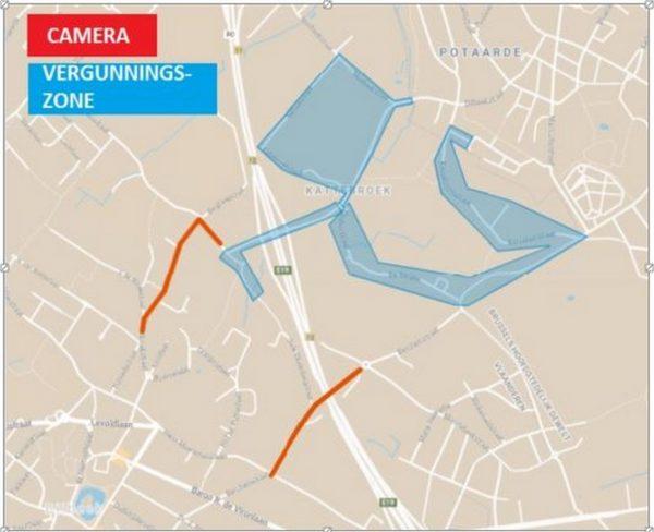 Dilbeek kaartje ANPR Camera's