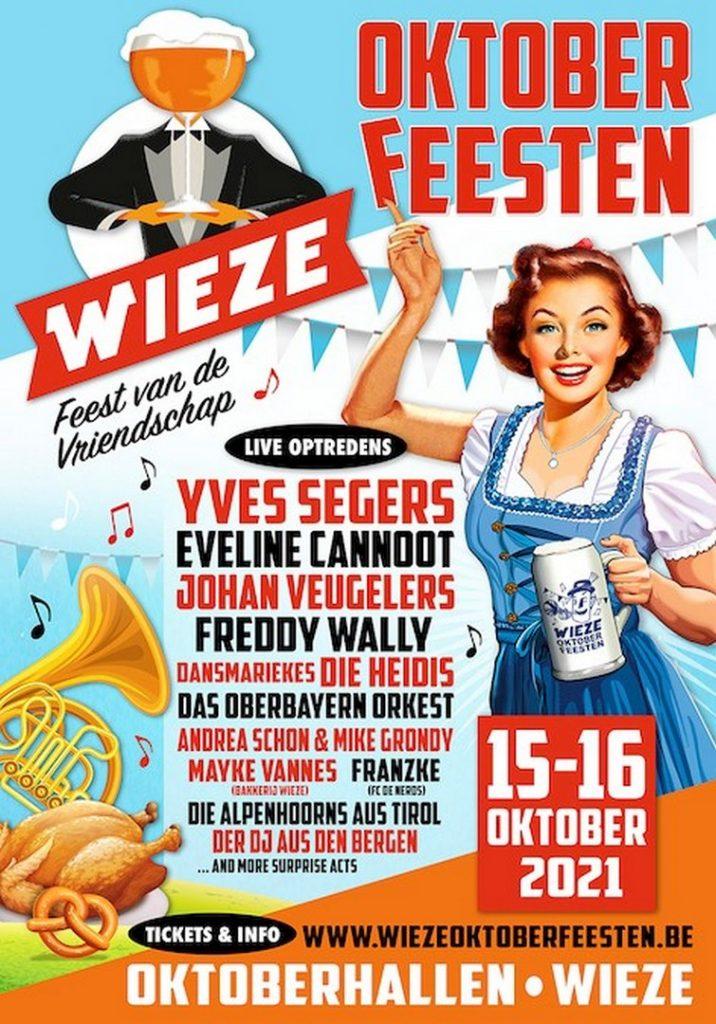 Oktoberfeesten Wieze komen terug - Affiche oktoberfeesten Wieze 2021