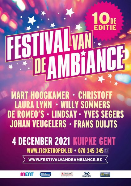 Affiche Festival Van De Ambiance 10e editie